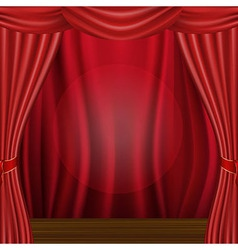 Scene And Curtains vector image vector image