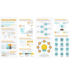 school education infographic elements vector image vector image
