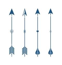 Set of ethnic 4 arrow isolated on white background vector image