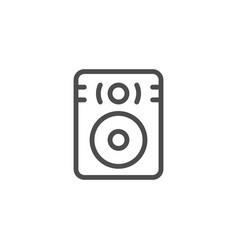 speaker line icon vector image