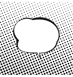 speech bubble on background with black dots vector image vector image