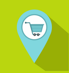 supermarket location icon flat style vector image