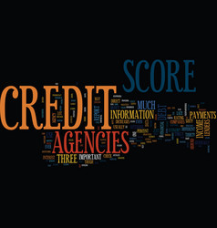 You credit score agencies and the tough economy vector