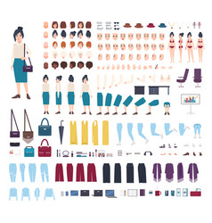 business woman character constructor girl clerk vector image vector image