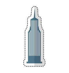 cloudscraper new york isolated icon vector image