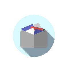 flat icon folder with documents folder with vector image