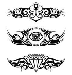 Tribal tattoos vector image vector image