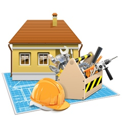 House Repair Project vector image vector image