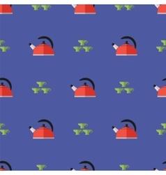 Kitchen Kettle Seamless Pattern vector image