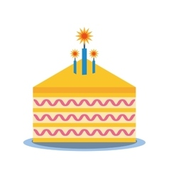party piece cake icon image vector image
