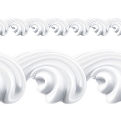 Whipped cream seamless pattern vector image vector image