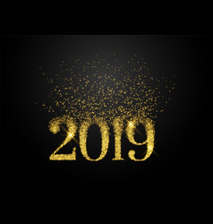 2019 written in sparkles and glitter style vector