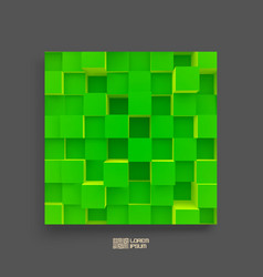 Abstract background of 3d blocks cover design vector