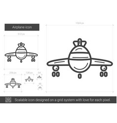airplane line icon vector image