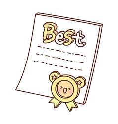 An award certificate vector
