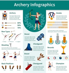 Archery Flat Infographics vector image