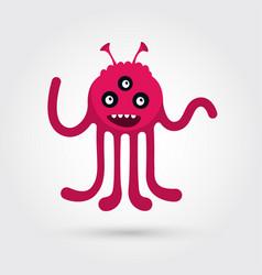 Artoon cute monster vector