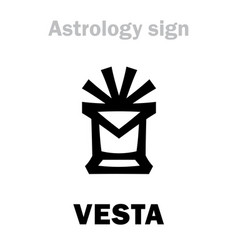 astrology asteroid vesta vector image