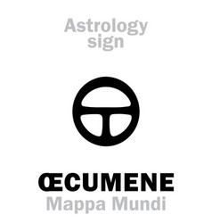 Astrology ecumene mappa mundi vector