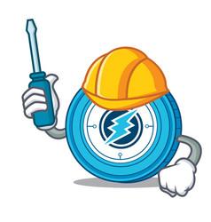 Automotive electroneum coin mascot cartoon vector