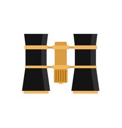 binoculars icon flat style vector image