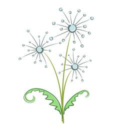 Bouquet of field dandelions vector
