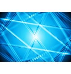 Bright blue design vector image
