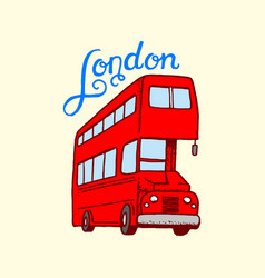 british bus in london and the gentlemen symbols vector image