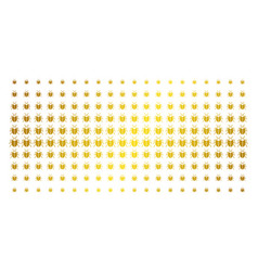 Bug gold halftone pattern vector