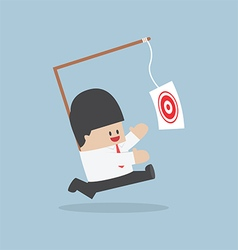 Businessman chasing his target vector image