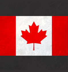 Canada flag with texture vector