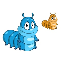 Cartoon caterpillar insect vector