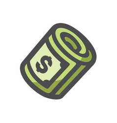 cash money stack icon cartoon vector image