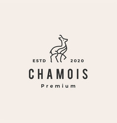 Chamois hipster vintage logo icon vector