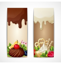Chocolate banners vertical vector image