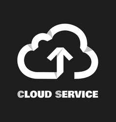 cloud service pictogram vector image