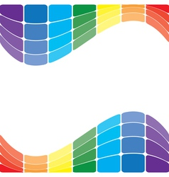 colorful wavy rainbow on white background vector image vector image