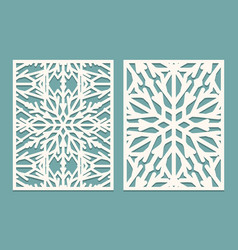 Die and laser cut decorated panels with vector