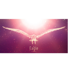eagle in flight to the sun from abstract vector image