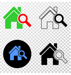 Explore realty eps icon with contour vector
