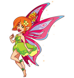 fairy on white vector image