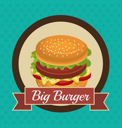 fast food design isolated vector image