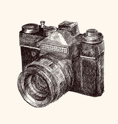 Film retro camera vector