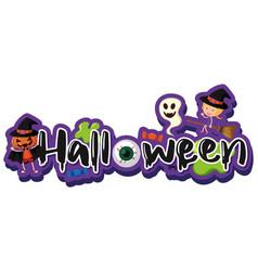 Font design for word halloween vector