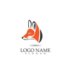 fox head logo and symbols template app vector image vector image