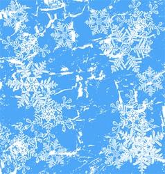 Frozen window - winter background vector