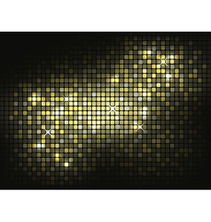 Gold shiny mosaic background vector