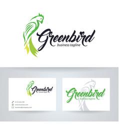 green bird logo design vector image