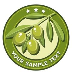 Green olives vector