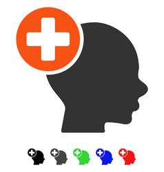 Head treatment flat icon vector